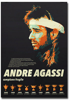"""Andre Agassi Greatest Tennis Player Fridge Magnet Size 2.5""""x 3.5"""""""