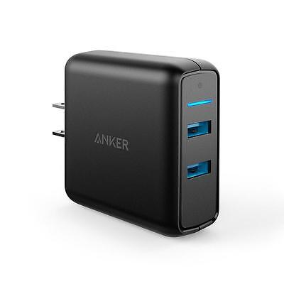 Anker 39.5W Dual USB Wall Charger PowerPort Speed with 2 Quick Charge 3.0