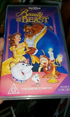 Disney's Beauty and The Beast VHS VIDEO �� �� �� FAST POST