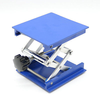 "4"" Aluminum Lab-Lift Lifting Platforms Stand Rack Scissor Lab Jack 100x100x150mm"