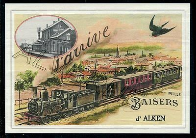 ALKEN -....  train-  souvenir creation moderne serie numerotee
