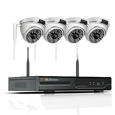 8CH 1080P HD Dome Wireless Security Camera System Outdoor Wifi Home NVR CCTV Set
