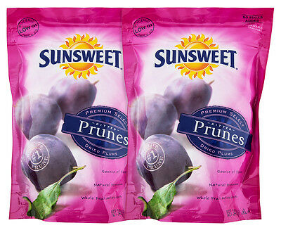 2 x Sunsweet Pitted Prunes 340g
