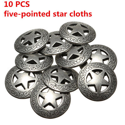 10PCS Lot Leathercraft Conchos For Texas Star Saddle Western Rodeo Leather Tack
