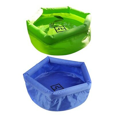 Camping Travel Hiking Outdoor 8L Inflatable Folding Wash Basin Sink Bag F7