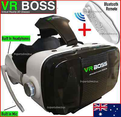 2017 VR Headset VR BOSS Virtual Reality Glasses 3D for Samsung Iphone 5 6s Plus