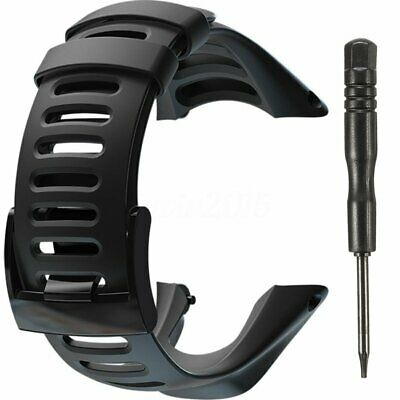 Soft Black Rubber Replacement Watch Band Strap For SUUNTO Ambit 3 PEAK/Ambit 2/1