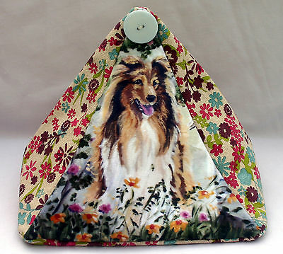 Rough Collie Dog Design Fabric Doorstop Sandra Coen Artist Oil Painting Print