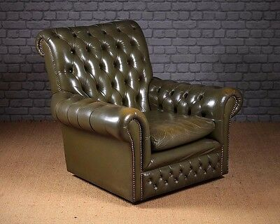 Vintage Club Type Leather Armchair c.1970