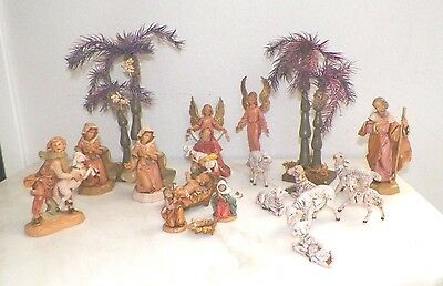 Lot Of Eighteen (18) Assorted Vintage Fontanini Italy Nativity Pieces