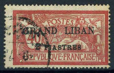 16-07-00872 - Lebanon 1924 Yv.  10 US 100% Grand Liban 2ps 40c rouge