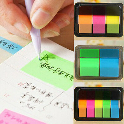Fluorescen Sticker Post It Bookmark Marker Memo Flags Index Pad Tab Sticky Notes