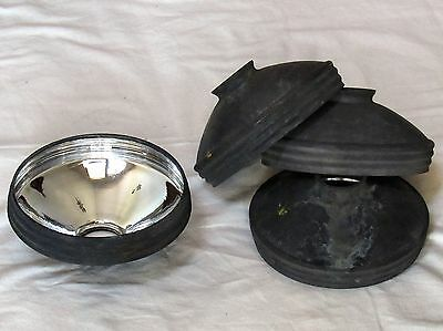 One Rare Antique Industrial Brass Covered Mercury Glass Shade - 4 Available