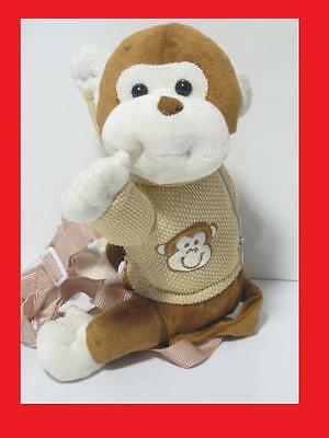 2 In 1 Kids Toddler Baby Monkey Chimp Safety Harness Buddy Leash Backpack