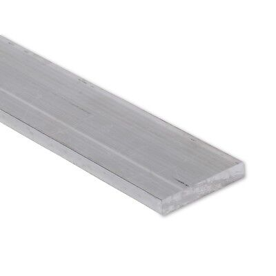 "1/4"" x 2-1/2"" Aluminum Flat Bar, 6061 Plate, 1"" Length, T6511 Mill Stock, 0.25"""
