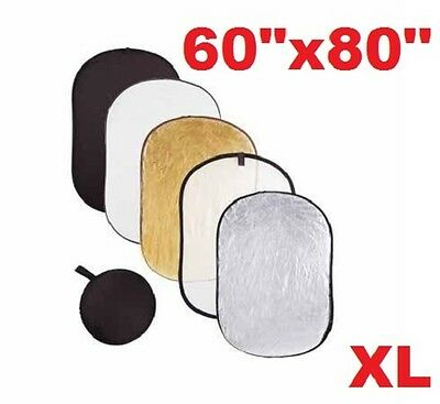 Pro Studio 60-inch x 80-inch 5-in-1 Collapsible Multi-Disc Light Reflector Bag