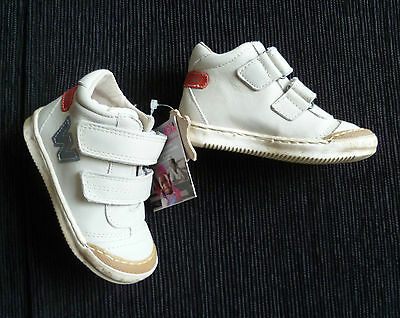 Baby clothes BOY/GIRL NEW size 21 Lea Lelo designer leather cream trainers/boots