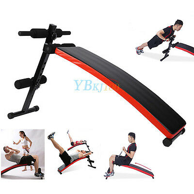 Folding AB Sit Up Bench Board Abdominal Pushup Fitness Home Workout Gym Exercise