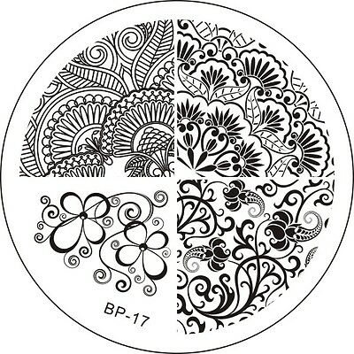 Stamping Schablone Stempel Blumen Blüten Eule Schmetterling Fullcover Bp-24 Nail Care, Manicure & Pedicure Nail Art Accessories