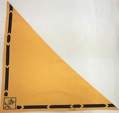 Bsa Yellow Kerchief Neck Scarf Cub Scouts Wolf Used (Bsa1)