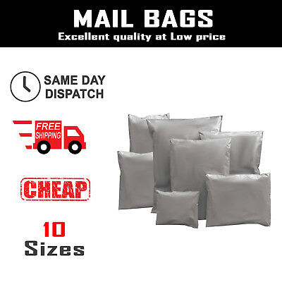 Grey Mailing Plastic Parcel Bags Post Poly Postage Self Seal Mail ALL SIZES