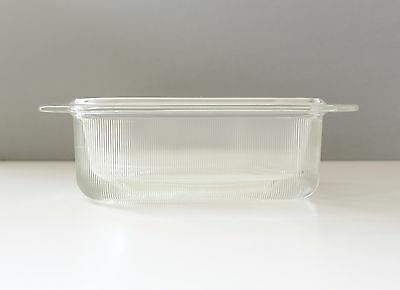 Heller Glass Loaf Pan Baking Dish Massimo Vignelli Mid Century Modern