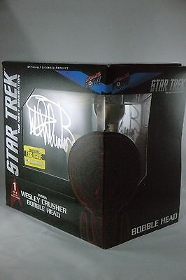 Star Trek TNG WESLEY CRUSHER SDCC bobble Head WIL WHEATON SIGNED