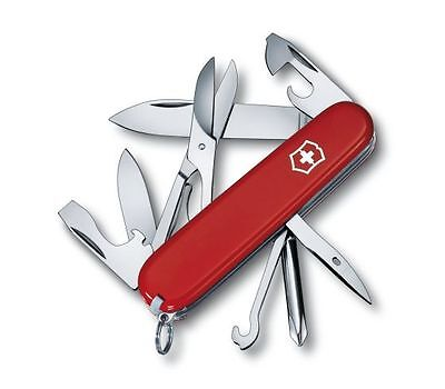 Swiss Army Knife  Red Super Tinker 12 Functions Genuine Victorinox Swiss Made
