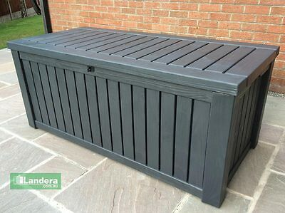 Keter Rockwood Outdoor Storage Box Anthracite Grey – 1.55m x .74m FREE DELIVERY!