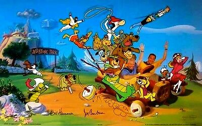 Hanna Barbera Signed Characters Cel Forty Years Yogi Scooby Top Cat Cell