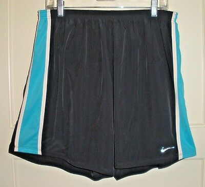 Men's NIKE DRI-FIT Gray/Blue Lined Running Athletic Shorts Size: XXL