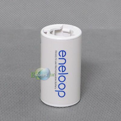 4pcs Sanyo Eneloop Battery Adaptor Converter NCS-TG-C AA R6 to C R14 C-Size