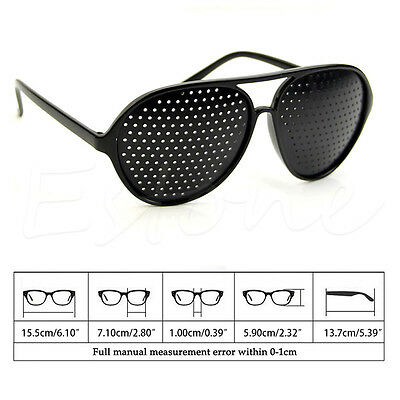 Pinhole Glasses Hole EYE Glasses Anti-Fatigue Vision Care Eyesight Improver New