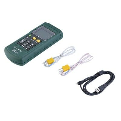 MASTECH MS6514 Dual Channel Digital Thermometer Temperature Logger Tester F7