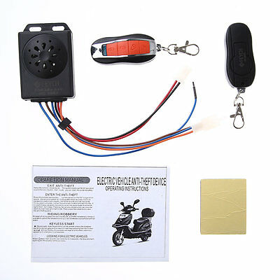 Motorcycle Motorbike Scooter Anti theft Security Remote Alarm Waterproof F7