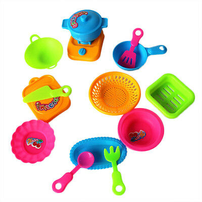kids play food dishes miniature cups bowls kitchen set dollh