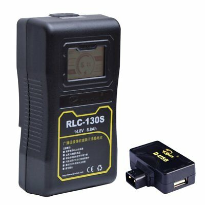 Rolux RLC-130S 130WH Sony V-mount LCD Display Li-ion Battery for Video Light