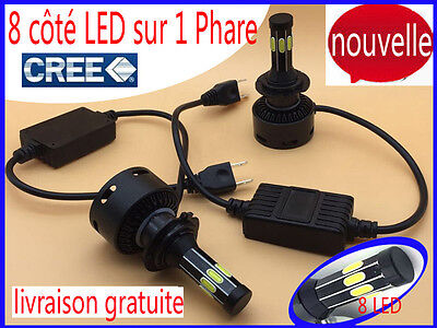 2x 160W 16000LM CREE LED Phare H11 H7 Blanc 6000K Ampoule Voiture Feux Lampe Kit