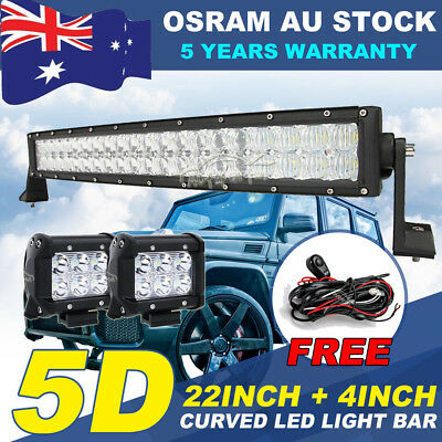 9INCH 555W CREE 5D LED Work Driving Light Spot Flood Combo Offroad Truck 4WD 7""