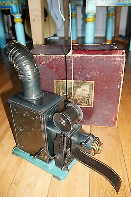 ANTIQUE VICTORIAN GC & Co FILM PROJECTOR RARE GERMAN RARE ANGEMELDET C. 1900
