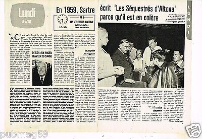 Coupure de presse Clipping 1979 (2 pages) Jean Paul Sartre