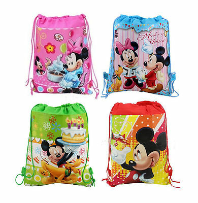 Kids Miecky Minnie Mouse Mix Cartoon Drawstring Backpack School Bag Wholesale