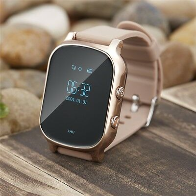 Smart GPS Watch Personal Tracker Mini GPS LBS Double Locating One Key SOS Button