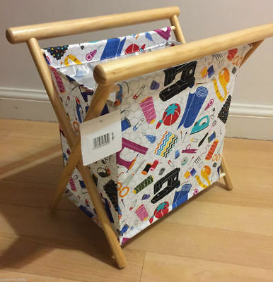 Knit Frame Knitting Tidy Sewing Basket - Busy Bee - White Sewing Crafts