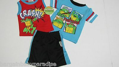 Teenage Mutant Ninja Turtles TMNT 3 pc Shorts T-Shirt Tank Top Set 6NT4707 12M