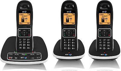BT 7600 Triple Cordless DECT Phone with A/M & Nuisance Call Blocker - Brand NEW