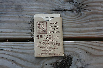 Boy scout memorabilia advancement record 1934 registration with sleeve