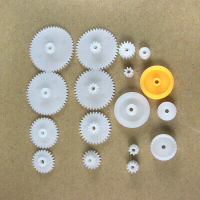 Plastic gear package 17 kinds Single/Double/Spindle gear/Pulley/Crown gear DIY