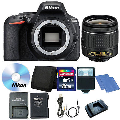 Nikon D5500 24.2 MP CMOS Digital SLR Camera + 18-55mm Lens + 16GB Accessory Kit