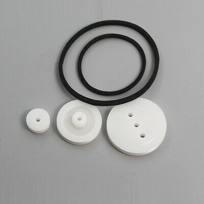 Pulley combination package 3 types rubber belts rubber band plastic gears